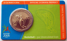 2006 XVIII Melbourne Commonwealth Games 50 Cent Coin - Basketball