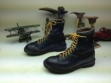 BLACK MADE IN USA DISTRESSED LACE UP FARM CHORE WORK PACKER BOOTS SIZE 10 M