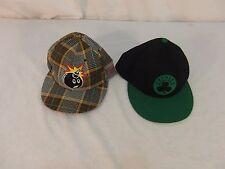 (2) Adult Unisex Hats Plaid 59Fifty Bomb Hat & Adidas Black Celtics Hat 31288
