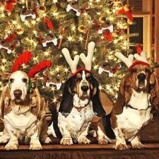 Basset Hound Dog Ornament Hand Knit Handmade Chilly Dog - Set of 3 NEW