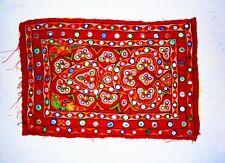 Indien Handmade Miroir Rouge Séquence Travail Broderie Patchs Ethnique Veste