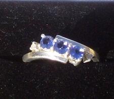 Nuova in Scatola Aa Graded 3 Pietra Tanzanite & Diamante .925