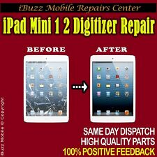 Apple iPad Mini 1 2 BROKEN DIGITIZER GLASS TOUCH LENS FIX REPAIR SERVICE