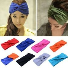 Women Turban Twist Head Knot Headband Wrap Twisted Knotted Hair Band Black