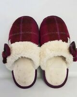 Womens Totes Harris Tweed Bow Slippers Size 3-4