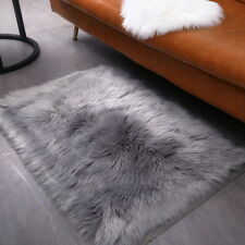 2PCS Small Fluffy Rugs Fuzzy Furry  2x3 ft Rectangle Area , Photograp (Grey)