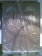 "BRAND NEW: Nice EXTERIOR Pre-Hung FIBERGLASS DOUBLE-DOORS  (60"" w x 80"" h)"