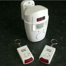 WIRELESS ALARM SECURITY SYSTEM  MOTION SENSOR & BRACKET 2 REMOTE CONTROLS NEW