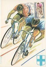Carte maximum - Marseille - 22/07/1972 - Championnats du monde cyclistes