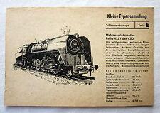 DDR Kleine Typensammlung Schienenfahrzeuge - Mehrzwecklokomotive Reihe 475.1 CSD