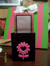 New Black With Hot Pink Glitter Daisy Memo Padpencil Amp Pen Cup Desk Organizer