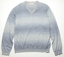 Hickey Freeman Sterling Collection V Neck Sweater (XXL) Grey 5S245202