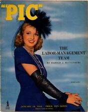PIC Magazine, January 18, 1944,  June Lang Cover Photo, Pin Up Calendar