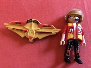 Playmobil Pilot Und Anstecker Aus 5219 Set