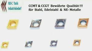 Wendeschneidplatten CCGT / CCMT  0602..09T3..für Stahl, Edelstahl & NE-Metalle
