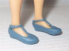 SHOES ~ MATTEL CURVY BARBIE DOLL FASHIONISTA BLUE FLAT FOOT T-STRAP MARY JANES