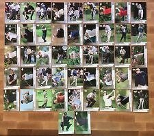 """2002 Upper Deck Golf 47 Base """"Silver"""" Card Set Tiger Woods Phil Mickelson Rookie"""