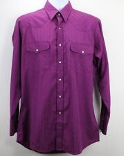 Northern Plains Dress Shirt M Mens Western Pearl Snap Buttons Rodeo Rockabilly