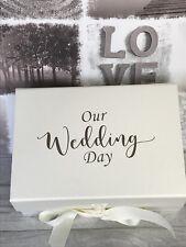 Ivory Wedding Keepsake Box/ Bride Gift Box A5 Deep/ Card Keepsake Box Memory Box