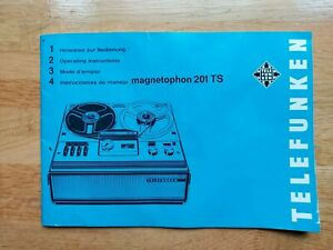 Telefunken Magnetophon 201 TS reel to reel Instructions French German English...