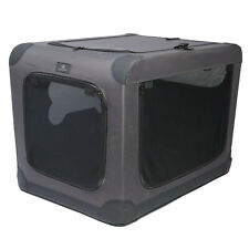 Top Paw Indoor Outdoor Portable Dog Folding soft Crate grey fabric metal frame