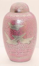 Adult Cremation Urn for Ashes Funeral Memorial Remembrance Urn large Pink Birds