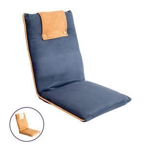 bonVIVO Bodenstuhl, Meditationsstuhl, Boden-Kissen, Sitzkissen mit Rücken-Lehne