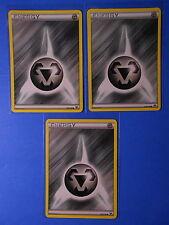 3x Metal Energy 139/146, 3x Fighting Energy 137/146 XY base set common NM