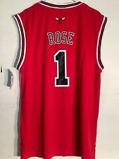 a507b9df1b7 adidas NBA Jersey Chicago Bulls Derrick Rose Red Sz 3x