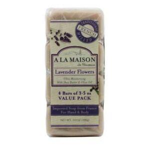 A La Maison de Provence Lavender flowers Hand and body soap 4 pack