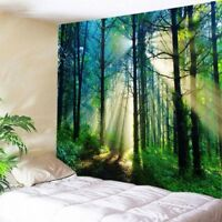 USA Sunlight Forest Print Tapestry Wall Hanging Tapestries Room Bedspread Decor