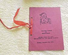 VINTAGE MENU + PROGRAM  ANDREWS SCOOL FOR GIRLS OHIO 1930