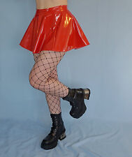 Red PVC Mini Skirt Fetish Goth Sexy 8-10