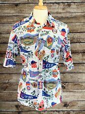 Reyn Spooner Chicago Cubs Legacy of Wrigley Baseball Hawaiian Shirt Large