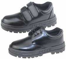 Boys School Shoes Infant Christening Black Trainer Wedding Formal Smart Dress