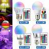 E27 3W 5W 10W RGB LED Glühlampe Birne Farbwechsel IR Fernbedienung Dimmbar Licht