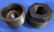 "BLACK MALLEABLE 1 1/4"" MALE X 1/2"" FEMALE ADAPTER REDUCER NNB, LOT OF 2 *PB*"