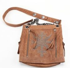 Thomas Wylde Studded Brown Leather Messenger Bag - Great Condition!