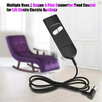 Electric Recliner Switch Remote Control 2 Button 5Pin Power Lift Chair Hand Wand
