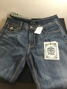 NWT FIVE FOUR DENIM JEANS, MEN 36 X 32 RELAXED STRAIGHT. TAG IS MARKED $117.00 !