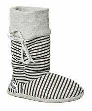 Womens Grosby Hoodies BOOTS Grey/black Stripes Slippers - Size S M L XL