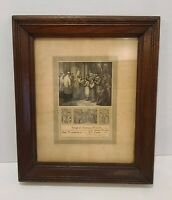 Vintage Antique Wood Wooden Walnut Picture Frame 1880s Sacrament Philadelphia