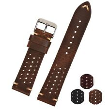 Hole Design Genuine Leather Watch Strap Replacement Bands Men Women Wristwatches