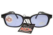 KD's Sunglasses Original Biker Shades Motorcycle Black Light Blue Lens 2012