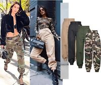 Unisex Military Combat Cargo Trousers Womens Casual Pants Work Wear Party Jeans