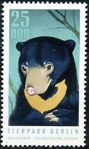 DDR #Mi1620 MNH CV€6.50 1970 Malayan Sun Bear Berlin Zoo Helarctos [1246]