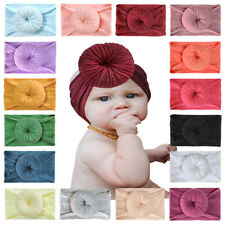 Baby Girls Knit Wide Headband Knot Turban Solid Color Headwrap Hair Accessories