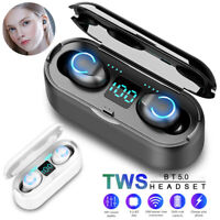 Wireless Bluetooth 5.0 Mini TWS True Sports Stereo Earphones Headset Earbuds