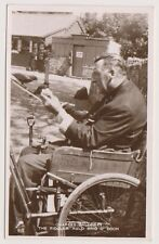 Ayrshire CARTE POSTALE - Charles Galloway, The Fiddler, Auld Brig o DOON