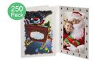 NEW- Santa Sleigh 4x6 Christmas Photo Folders Pack of 250 Tap - Card Stock